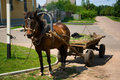 Free Horse-drawn Vehicle In Rural Area Stock Photography - 5617192