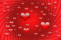 Free Red Shiny Hearts Background Stock Photo - 5745270