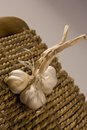 Free Garlic Isloated On White/wood Stock Images - 5795264