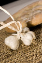 Free Garlic On Wood Isloated Royalty Free Stock Images - 5795329