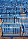 Free Blue Chairs Outside Royalty Free Stock Photography - 605417