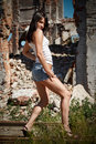 Free Young Lady Near Ruins Royalty Free Stock Images - 6049309