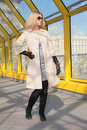 Free Young Blonde In Sunglasses And Black Gloves Royalty Free Stock Photography - 6197647
