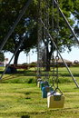 Free Lonely Row Of Swings Stock Images - 6492414