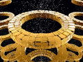 Free Fantasy Circular Yellow Futuristic Constructions Royalty Free Stock Photos - 6579858
