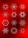 Free Set Of Legant Rich Snowflakes Royalty Free Stock Images - 6591389