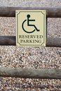 Free Reserved Parking Royalty Free Stock Photography - 698447