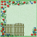 Free Garden Gate Scrapbook Stock Photo - 6912980