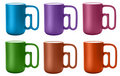 Free Six Color Cups With @ Handle Royalty Free Stock Photography - 7020947