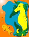 Free Seahorse And Fish Royalty Free Stock Photo - 710075