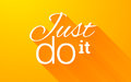 Free Text Lettering Phrase Just Do It With Long Shadow On Bright Orange Background Stock Photography - 71846292