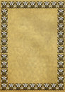 Free Old Yellowed Paper With Border Stock Image - 7464721