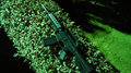Free Plastic Machine Gun On Green Fence Stock Image - 7746681