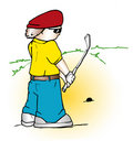 Free Golfer Cartoon Royalty Free Stock Photography - 786437