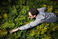 Free Man Swimming Through Bushes Royalty Free Stock Image - 7916796