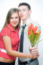Free Beautiful Fashionable Couple Stock Photography - 7992502