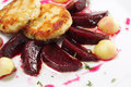 Free Chicken Confit With Pickled Beet Stock Photography - 8034412