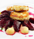 Free Chicken Confit With Pickled Beet Stock Photos - 8034423