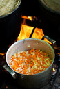 Free Cooking On A Fire Stock Images - 8121124