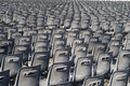 Free Many Grey Chairs In Rows Royalty Free Stock Image - 8155576