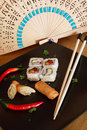 Free Sushi And Spring Rolls Stock Photography - 821402