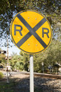 Free Round Railroad Crossing Sign Stock Photography - 8271482