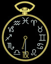 Free Zodiac Virgo Clock Royalty Free Stock Images - 832119