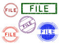 Free 5 Grunge Stamps - FILE Stock Image - 8353121