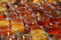 Free Pengzhou, China: Amber-coloured Votive Candles Stock Photography - 8460552