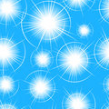 Free Seamless Blue Flare Pattern Royalty Free Stock Photography - 8461167