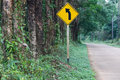 Free Left Curve Ahead Stock Photography - 8489152