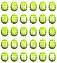 Free Easter Egg Font - Lime Green Royalty Free Stock Photo - 8519145