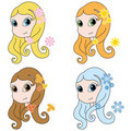 Free Four Seasons Girls Royalty Free Stock Images - 8521839