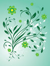 Free The Background Of Flowers And Leaves Royalty Free Stock Photography - 8570917