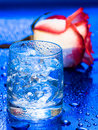 Free Glass With Water And Rose Stock Photo - 8597770