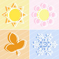 Free Four Seasons Icons Royalty Free Stock Photography - 8662647