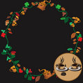 Free Coffee Wreath Royalty Free Stock Photo - 9019295