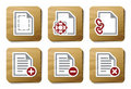 Free File Manipulations Icons | Cardboard Series Royalty Free Stock Photo - 9358635