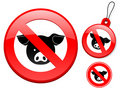 Free Prohibition Sign Collection - Pig Stock Photos - 9522583
