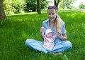 Free Baby And Mom Outdoors Royalty Free Stock Photos - 9595158