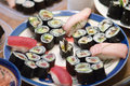 Free Sushi On A Plate Stock Images - 962004