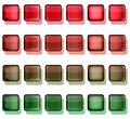 Free Red And Green Button Squares Stock Photography - 9735802