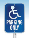 Free Disabled Parking Sign Royalty Free Stock Photography - 9753587