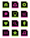 Free Black Icon Set Royalty Free Stock Photo - 9809555