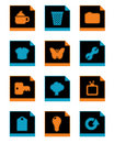 Free Black Icon Set 2 Stock Image - 9809941