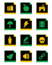 Free Black Icon Set 3 Royalty Free Stock Photos - 9809948