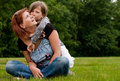 Free Kissing My Mom Royalty Free Stock Photo - 9875655