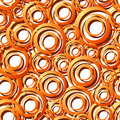 Free Seamless Orange Ring Pattern Royalty Free Stock Photos - 9907188