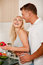 Free Couple Preparing Food Stock Image - 9982151