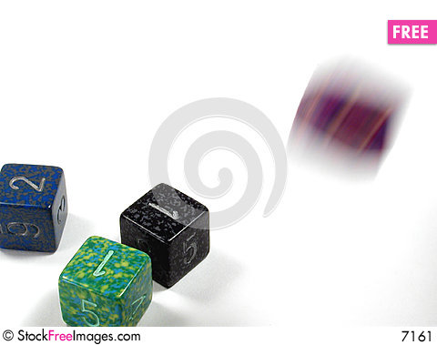 Free Rolling The Dice Stock Image - 7161